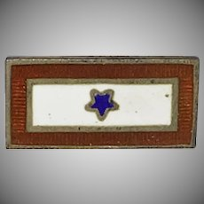 Patriotic World War 2 Sweetheart brooch/pin Son in Service One Blue Star - 1940's
