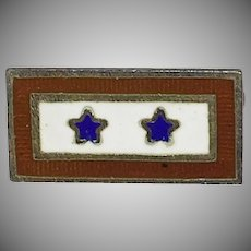Patriotic World War 2 Sweetheart brooch/pin Son in Service Two Blue Stars - 1940's