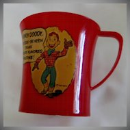 Howdy Doody Ovaltine Cup – USA 1950s