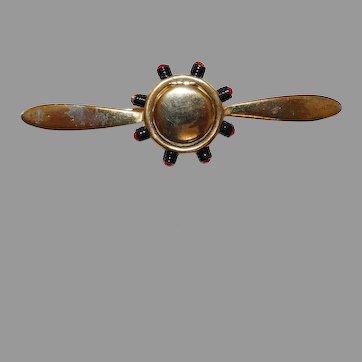 World War 2 – Air Force Airplane Propeller Locket type Sweetheart brooch Silson Company 1940