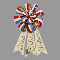 French Cockade 'Liberty Equality Fraternity' Patriotic WW2 fur clip Brooch – Silson Company 1940