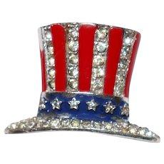 Patriotic Uncle Sam's Hat brooch/pin World War II – Alfred Philippe designer Trifari Company 1940's
