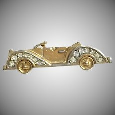 Vintage Brooch depicting 1930's Roadster/Touring Car Trifari Company