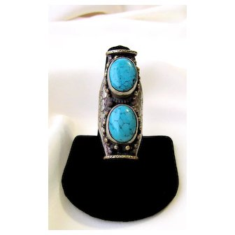 Vintage Turquoise From India Ring