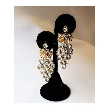 Vintage Crystal Waterfall Earrings