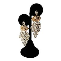 Vintage Crystal Waterfall Earrings
