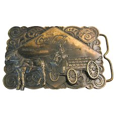 Vintage Coca-Cola 1975 Bergamot Brass Works Belt Buckle