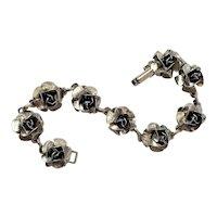 Vintage Metal Roses Bracelet