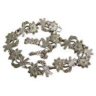 Vintage Sterling Silver And Marcasite Bracelet