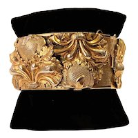 Vintage Whiting & Davis Repousse Bangle Bracelet