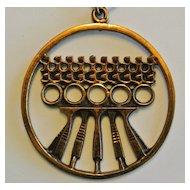 Vintage P. Sarpaneva Bronze Necklace