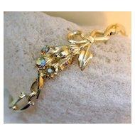 Vintage S & G Fifth Avenue Aurora Borealis Rhinestone Bracelet