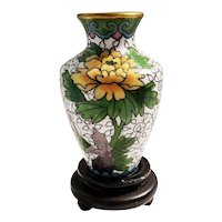 Vintage Miniature Cloisonne Flower Vase