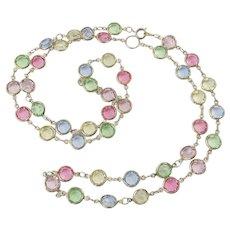 Vintage Austrian Crystal Open-Back Necklace