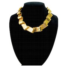 Vintage Flowing Goldtone Ribbon Necklace