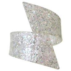 Vintage Lucite Confetti Hinge Bracelet