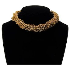 Vintage Goldtone Multi-Strand Chains Necklace