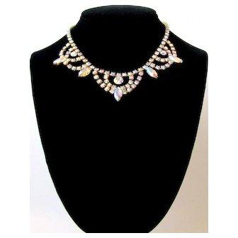 Vintage Brilliant Aurora Borealis Necklace
