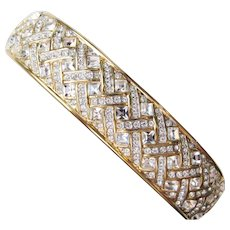 Vintage Swarovski Rhinestone Bangle Bracelet
