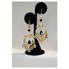 Vintage Middle Eastern Vibe Rhinestone Earrings