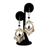 Vintage Middle Eastern Vibe Rhinestone Earrings