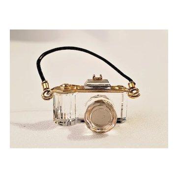 Vintage Swarovski Crystal Memories Miniature Crystal Camera