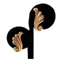 Vintage JMS Gold Filled Swirled Earrings