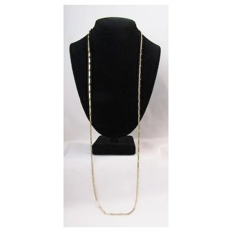 Vintage Cadoro Flat Chain Necklace