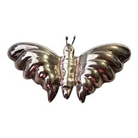 Vintage Sterling Silver Butterfly Brooch Pin