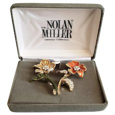 Vintage Nolan Miller Glamour Collection Double Brooches/Pins
