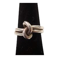 Vintage Sterling Silver Knot Ring