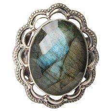 Vintage Labradorite Sterling Silver Ring