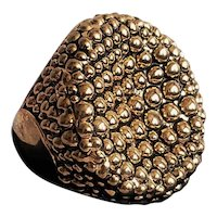 Vintage Goldtone Bubble Dot Ring