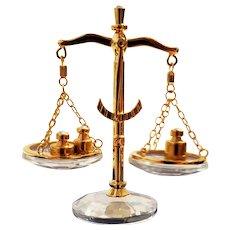 Swarovski Miniature Scales Of Justice
