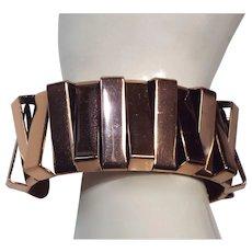 Renoir Mid Century Modernist Copper Cuff Bracelet