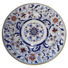 "Antique Minton Ironstone 10"" Plate, Imari Colors, Eagle Japan Pattern"