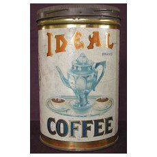 1920's Ideal Coffee Tin