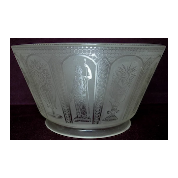 Antique Gas Light Etched Lamp Shade