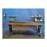 Vintage Marklin toy steam-powered lathe