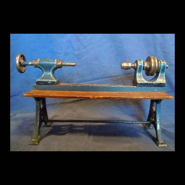 Vintage Marklin toy steam-powered lathe