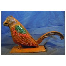 Cast iron parrot nut cracker
