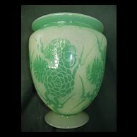 Large Signed Steuben Vase