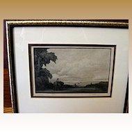 1937 Thomas Nason Etching Morning-signed
