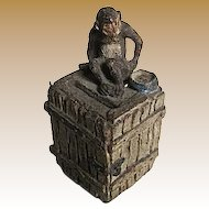 1930's Elastolin Germany Monkey on a Crate Bank