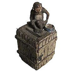 1930's Elastolin Germany Monkey on a Crate Bank