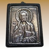 .950 Silver Religious Plaque