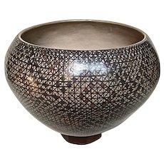 Large Mata Ortiz Casas Grandes Polychrome Fine Line Dazzler Pot