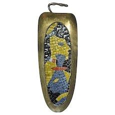 Salvador Teran Brass and Glass Mosaic Tile Tray