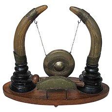 Miniature Horn and Brass Dinner Gong