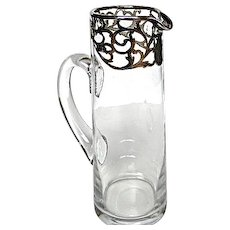 Alvin .999 Silver Overlay Pitcher